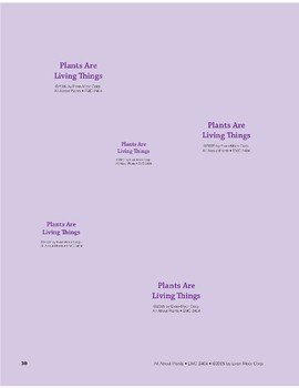 Plants Are Living Things: Storyboard Pieces