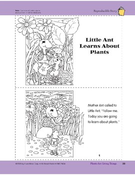 Plants Are Living Things: Take-Home Book