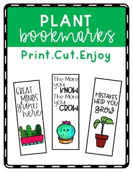 Plant Bookmarks