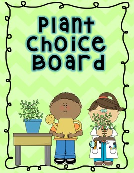 Plants Choice Board Think Tac Toe