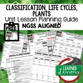 Plants, Classification Lesson Plan Guide for NGSS Science,