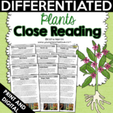 Close Reading: Plants Differentiated Reading Passages   Te