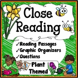Plants / Close Reading Passages, Questions & Graphic Organizers