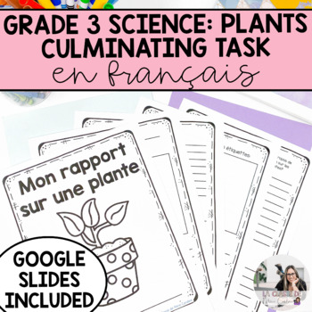 Plants Culminating Task: French Version