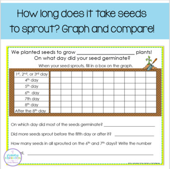 Plants Graphing and Writing Activities