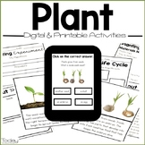 Plants Digital and Printables Resource (Distance Learning)