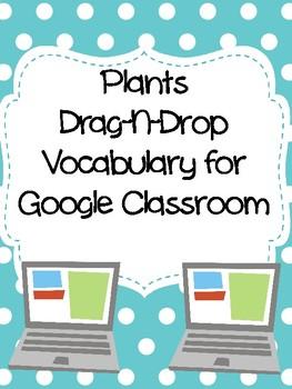 Plants Drag-n-Drop Vocab for Google Classroom