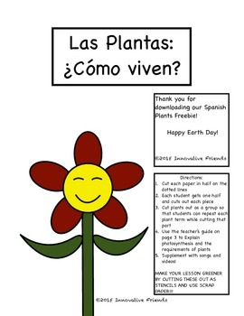 Spanish Plants Earth Day Lesson - FREE!