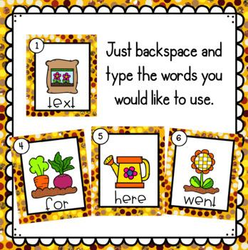 Plants- Editable Write the Room
