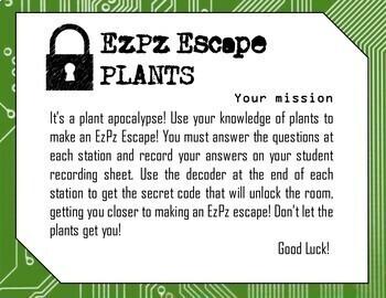 Plants Science Escape Room