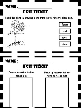 Plants - Exit Tickets