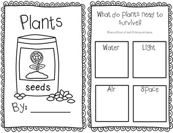 Plants: Experiments, Mini books, Task Cards, Printables and Assessment