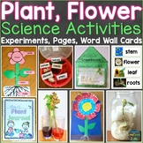 Plants Flowers Science Experiments, Parts of Flower Word Wall Cards, Activities