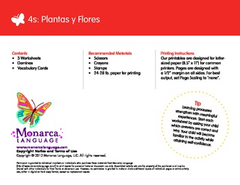 Plants & Flowers Spanish Lesson (4s) - Plantas y Flores