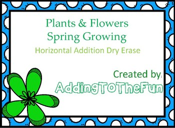Plants & Flowers, Spring Growing -  Addition Dry Erase Cards