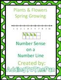 Number Line Number Sense Worksheets - Plants, Flowers, and Spring Growing