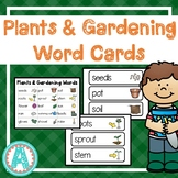 Plants & Gardening Word Cards