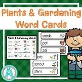 Plants & Gardening Word Cards
