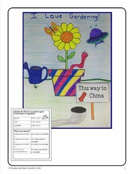 Spring Plants Math Goofy Glyph (4th Grade Common Core)