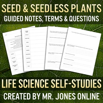 Plants: Guided Notes / Self-Study
