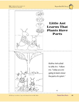 Plants Have Parts: Take-Home Book