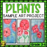 Plants Inspired Art Project Sample Poppies