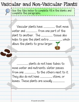 Plants Interactive Digital Notebook for Google Drive®
