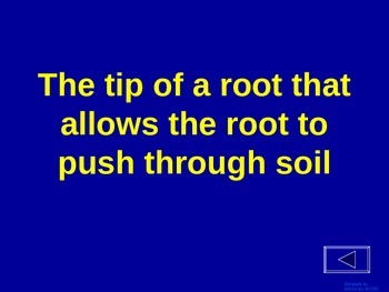 Plants - Jeopardy Review Game