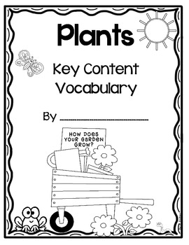 Plants- Key Content Vocabulary Student Book