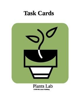 Plants Lab Task Cards 3rd Grade Science