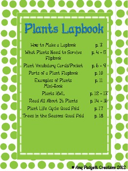 Plants Lapbook