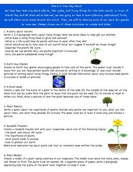 Plants Learning Menu