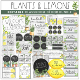 Plants & Lemon Theme Classroom Decor Kit