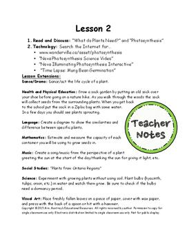 Plants Lesson 2 - Plant Needs