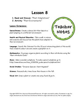 Plants Lesson 8 - Plant Adaptations
