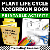 Plant Life Cycle Craft Activity, Cut and Paste Accordion Book, Fun Facts