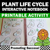 Plant Life Cycle Cut and Paste Craftivity, Foldable Science Interactive Notebook