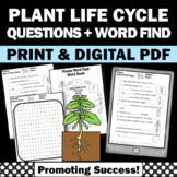 Plant Life Cycle Worksheet Spring Summer Science Digital Activities Vocabulary