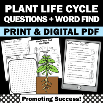 Plants Life Cycle Worksheets, Plant Word... by Promoting ...