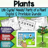 Plants: Life Cycles, Parts of a Plant, Needs Boom Cards