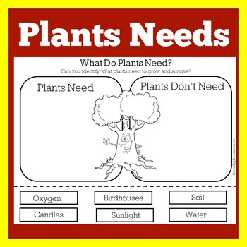 what do plants need to grow worksheet by green apple lessons tpt. Black Bedroom Furniture Sets. Home Design Ideas