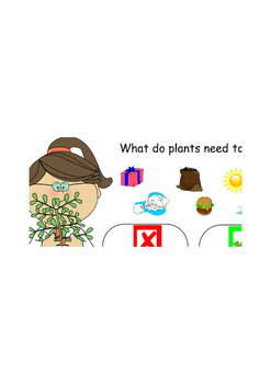 Plants Need interactive ActivInspire activity sort
