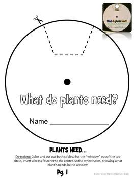 Plants Needs Craft - Wheel - Craftivity