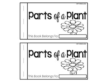 Parts of a Plant Booklet Nonfiction Science (Fluent and Emergent Reader)