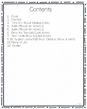 Plants: Parts of a Plant, Plant Needs, Life Cycle, & Plant Journal for Primary