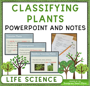 Plant Kingdom Powerpoint and Fill-In Notes