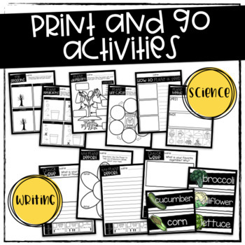 Plants {Print and Go Activities ONLY}