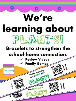Plants Homework Bracelets with QR Codes {Needs & Parts}