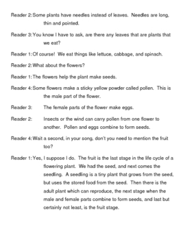 Plants Reader's Theater Script