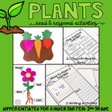 Plants: Reading Comprehension, Writing and Craftivities
